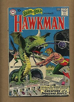 Brave and the Bold 34 (Solid!) Origin/1st app. S.A. Hawkman & Hawkgirl (c#12771)