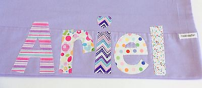 Personalised Gift Children's Appliqued Pillowcase Purple Or Lilac