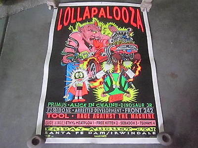 Lollapalooza Rare Poster Tool Rage Against The Machine Primus Dinosaur Jr