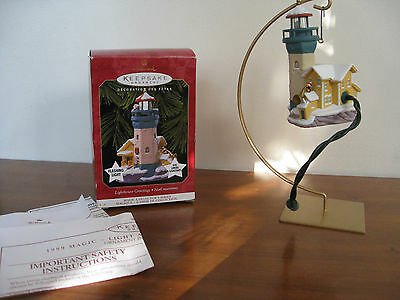 Hallmark, Lighthouse Greetings Keepsake Ornament. Magic Collector's Series.