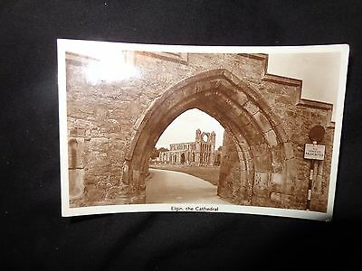 The Cathedral, ELGIN, through the arch  Morayshire RP 1947 v/s