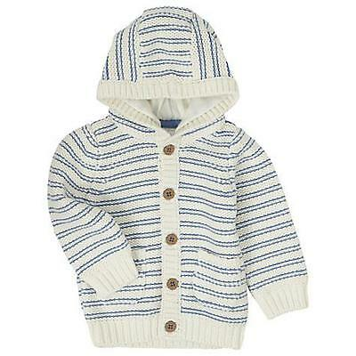 John Lewis Baby's Chunky Knit Hooded Cardigan size 0 - 3  months USED