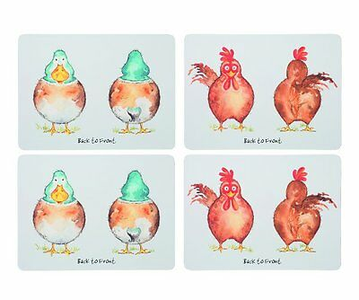 4 x Price & Kensington BACK TO FRONT PLACEMATS Farm Animals HEN Chicken DUCK