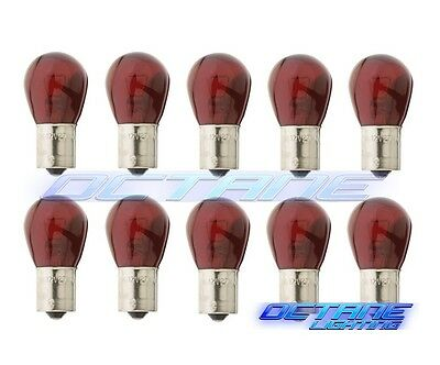 #1156 Red Incandescent Light Bulbs 12v Box of 10
