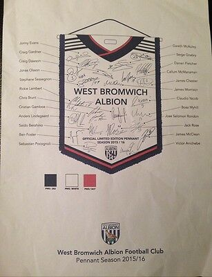 Genuine Westbromwich Signed Football With Pennant