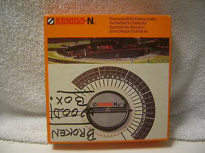 N Gauge Arnold Turn Table Control With Box For Repair Or Parts