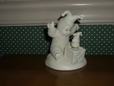 Dept. 56- 2000 Snowbaby-Pop Goes The Snowman-Good Condition