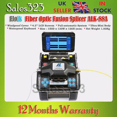 "ALK-88 Fiber Optic Fusion Splicer Cleaver Automatic Focus Function 4.3"" LCD"