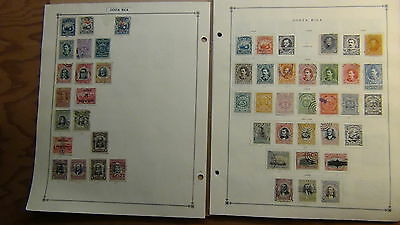 Costa Rica  stamp collection on Scott International  pages to '80s or so