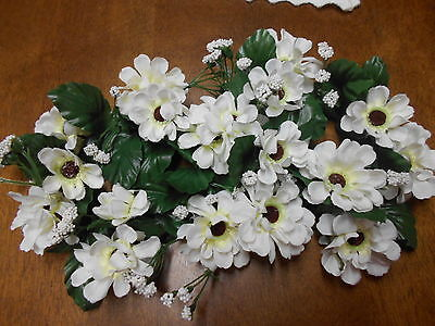 White Flowers Candle ring Vintage Home Interiors Set of 2