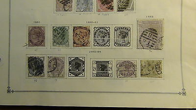 Great Britain  stamp collection on Scott International  pages to '8os or so