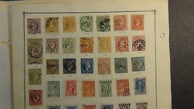 Greece stamp collection on Scott International  pages to '8os or so