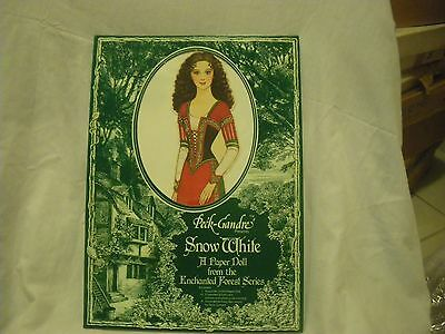 Peck-Gandre Snow White paper doll sealed uncut Enchanted Forest Series