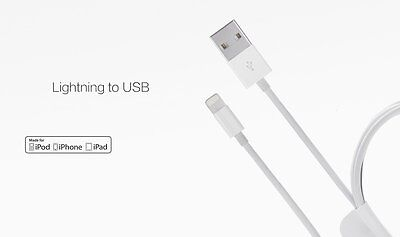 X5 Apple Iphone 5/5S/5C/6/6S/6PLUS/7/7S + iPad Lightning Charger Cables (New)