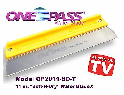 """ONE PASS Water Blade, 11"""" 'Soft-N-Dry', OP2011-SD-T"""