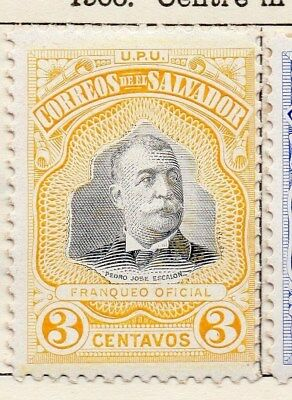 El Salvador 1906 Early Issue Fine Mint Hinged 3c. 120979