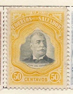 El Salvador 1906 Early Issue Fine Mint Hinged 50c. 120987