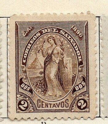 El Salvador 1896 Early Issue Fine Mint Hinged 2c. 121011