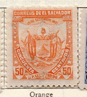 El Salvador 1896 Early Issue Fine Mint Hinged 50c. 121030