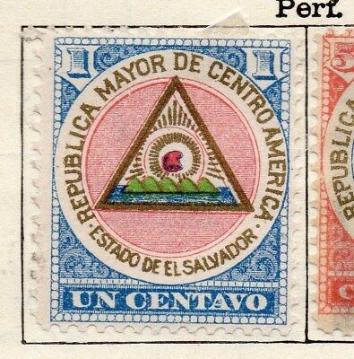 El Salvador 1897 Early Issue Fine Mint Hinged 1c. 121045