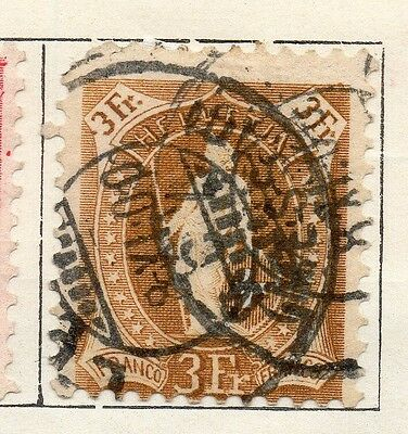 Switzerland 1882-1902 Early Issue Fine Used 3F. Standing Helvetia 121085