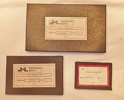 "MACHINEST SQUARE SET OF 3PCS -  2"", 4"" & 6""  J & L Industrial supply"