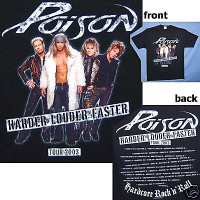 Poison Band Pic Harder Louder Faster Tour 2003 Black Shirt Xl X-Large New!