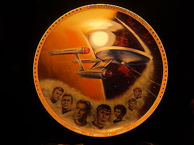 "Star Trek 8-1/2"" Uss Enterprise Hamilton Collection Collector Plate!  Kk21"