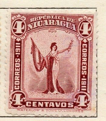 Nicaragua 1912 Early Issue Fine Mint Hinged 4c. 121323