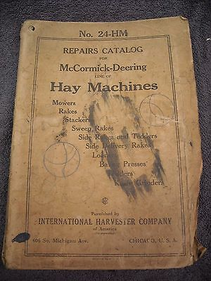 1926 No. 24-HM McCormick Deering Hay Machines Parts Manual Mower Baler Stacker