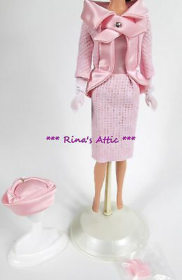 FASHION LUNCHEON Repro Reproduction Pink Satin Barbie Doll Outfit