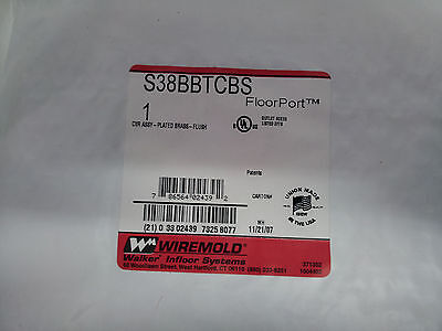 Wiremold S38Bbtcbs New In Pack Brass Cover Assembly #b31