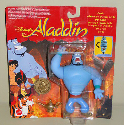 BNIB Vintage Disney's Aladdin Genie Figure with Coin & Lamp by Mattel