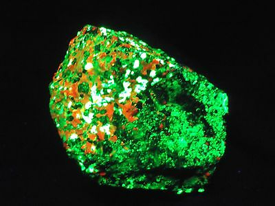 2.1LBS! HUGE!! Phosphorescent WILLEMITE  CALCITE  STERLING HILL MINE  NEW JERSEY