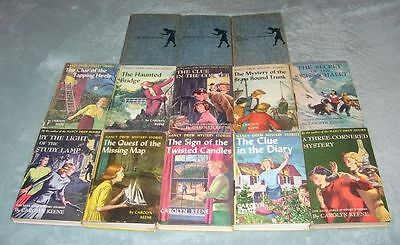 Collection of 13 Vintage Carolyn Keene Nancy Drew Hardcover Books 1932 - 62