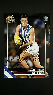 signed Select Scott Thompson  North Melbourne  card