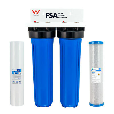 "Whole House Heavy Metal & Lead Removal Water Filter System 20"" x 4.5"" Big Blue"