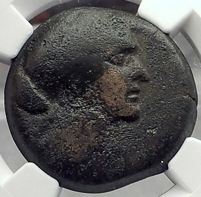 CLEOPATRA VII JULIUS CAESAR & MARK ANTONY Lover Egyptian Greek Coin NGC F i58223
