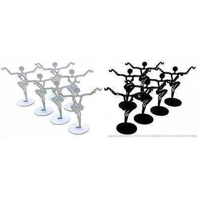 12 Black White Earring Stands Showcase Jewelry Display