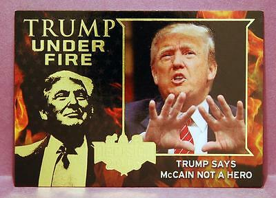 Decision 2016 Political Trading Cards - Trump Under Fire #TUF2 - Gold Parallel