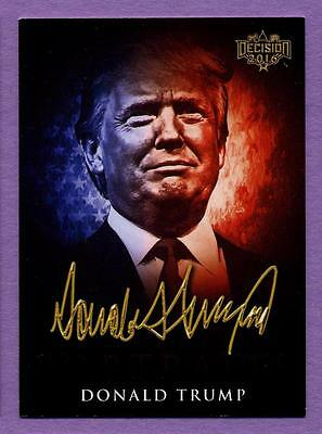 Decision 2016 Political Trading Cards Candidate Portraits - Donald Trump #CP7