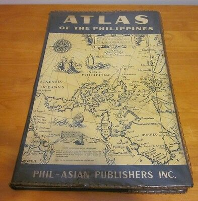ATLAS of the PHILIPPINES Phil-Asian Publishers 50 + colored maps 1959 vtg Asia