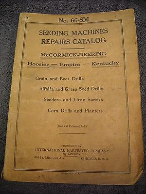 1926 No. 66-SM McCormick Deering Seeding Machines Parts Manual Drill Sow Planter
