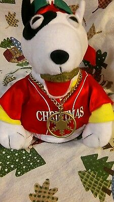 90's Gemmy Rapping  Hip Hop Dog.  Gangster Jingle Bells Animated Christmas toy