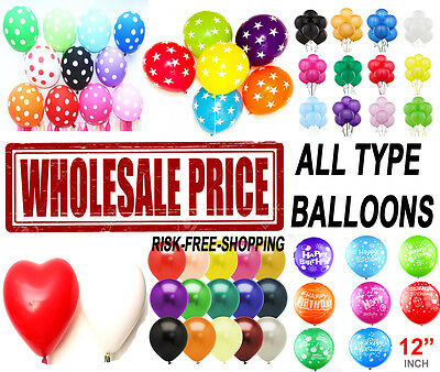 WHOLESALE BALLOONS 100-5000 Latex BULK PRICE JOBLOT Quality Any Occasion BALLONS