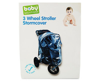 Baby Solutions 3 Wheel Stroller Stormcover - Clear