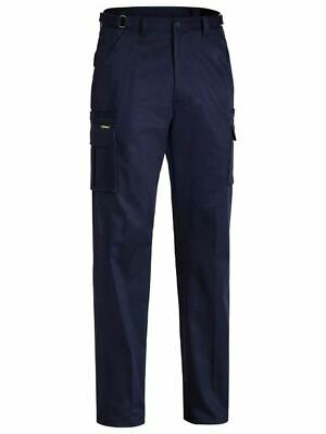 NEW Bisley Cargo Work Pant 8 Pocket Drill Cargo Pants Navy BPC6007