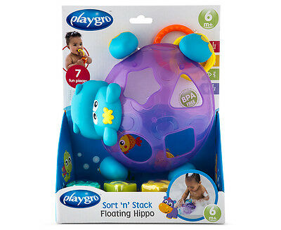 Playgro Sort 'n' Stack Floating Hippo