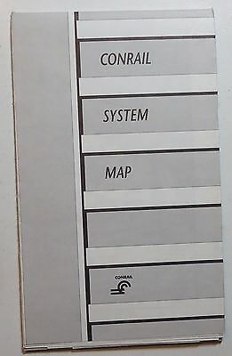 Conrail Railroad 1986 System Map    -   black & white