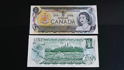 $1 One dollar Canadian Bill (1973) Mint condition Uncirculated